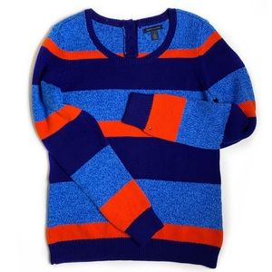 Tommy Hilfiger Striped Button Detail Sweater NWOT
